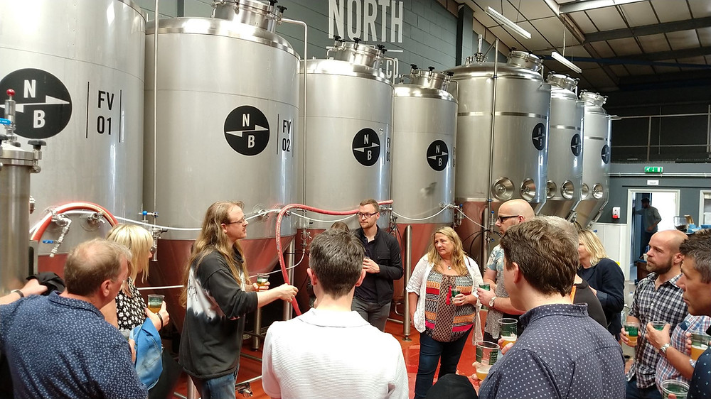 Brewery tour at North Brewing