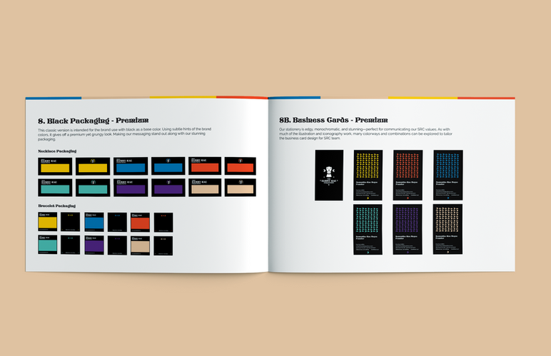 Dark Packaging & Business Card
