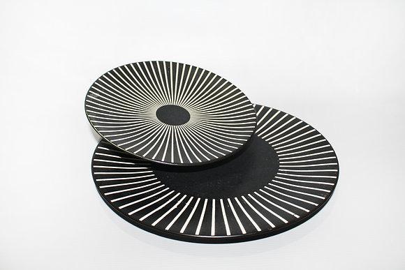 Plate Sun Black