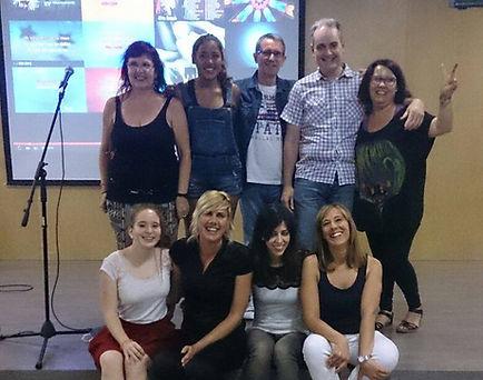 Con el curso de canto de 1º en el 2015