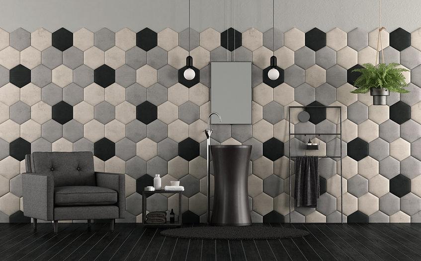 bathroom-with-sink-and-hexagonal-tiles-X