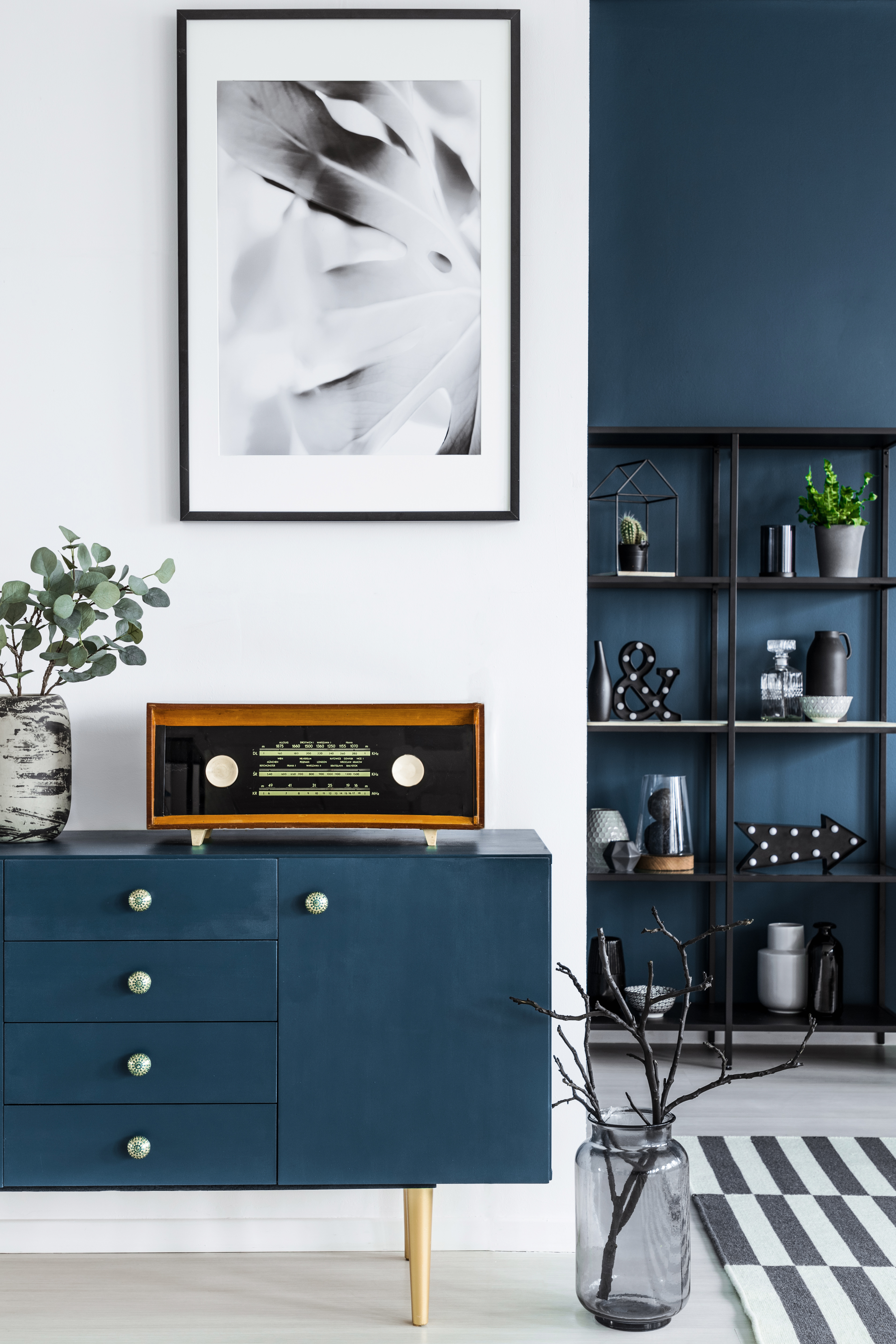 close-up-of-a-painting-blue-cabinet-retr