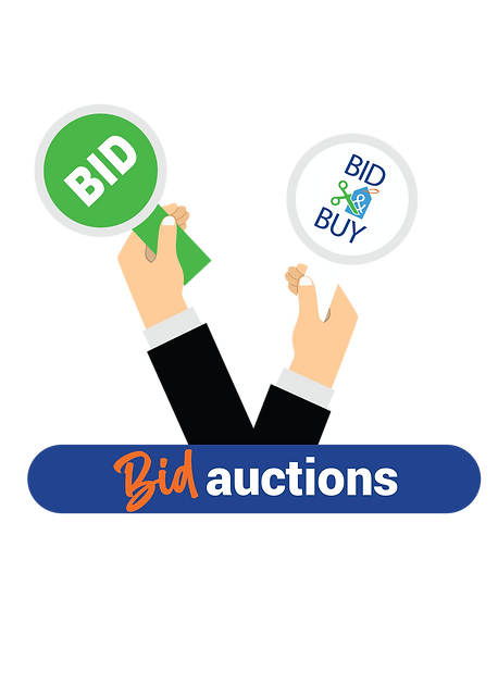 Bid and Buy Business Sector Signs icons-