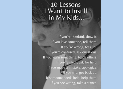 Lessons for our kids and ourselves!