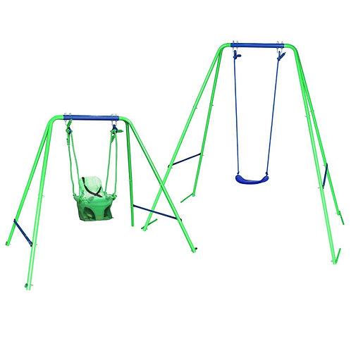 2-in-1 Garden Swing Set
