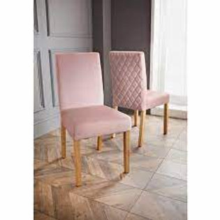 Karina Bailey Velvet Dining Chairs 2pk -Blush