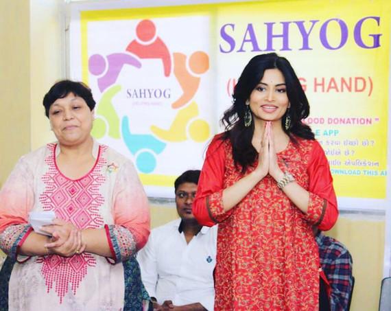 Launching Sahyog Blood Donation App for Gujarat & Maharashtra.
