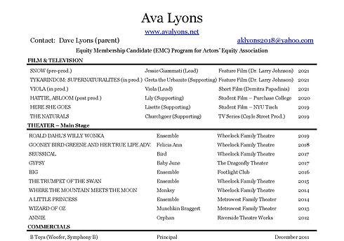 Ava Lyons Resume Credits.jpg