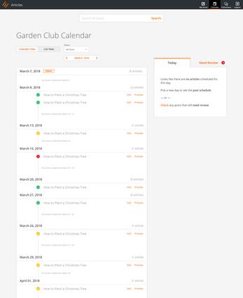 Content Calendar List View