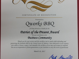 Patriot of the Present Award: State of California Senate