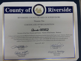 Patriots of the Present Award: Riverside County