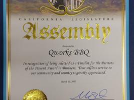 Patriots of the Present Award: California Legislature Assembly