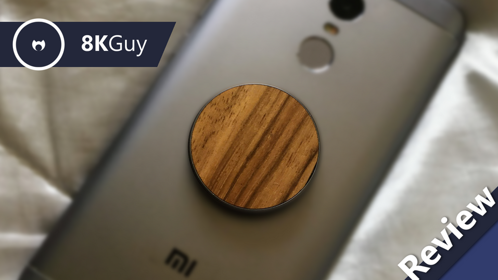 Wood Phone Stand with PopSocket Cutout with or without Graphic in your choice of wood
