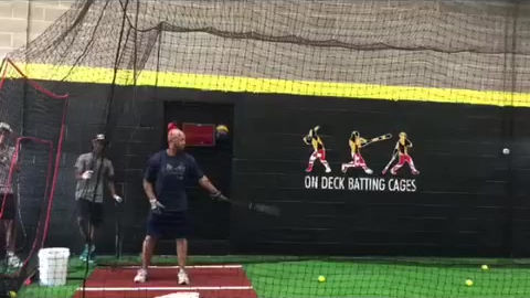 DC Knights Coach batting practice at On Deck PG Batting Cages Maryland
