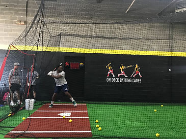 DC Knights Coach at On Deck PG Batting Cages Baseball Babe Ruth