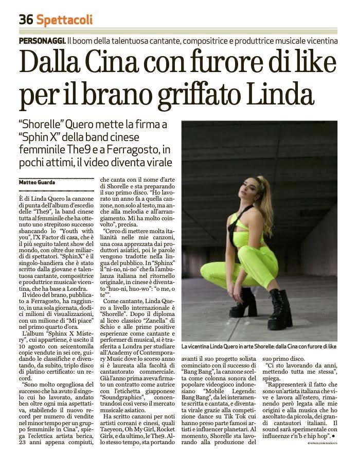 Shorelle per Il Giornale Di Vicenza