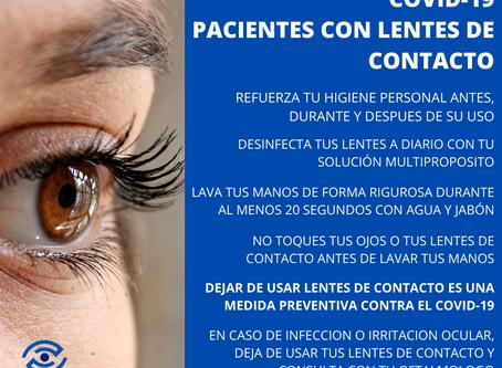 RIESGO DEL COVID-19 Y LENTES DE CONTACTO