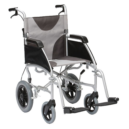 Ultra Lightweight Aluminium Wheelchair - Attendant Controlled