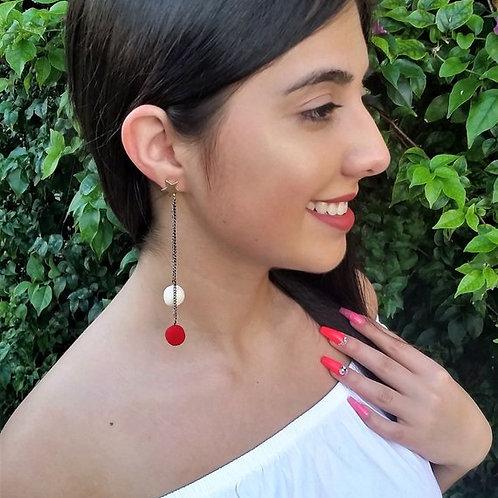 Tassel Earrings, Boho Jewelry, Long Dangle Earring, Tassel Jewelry, Star Stud Ea