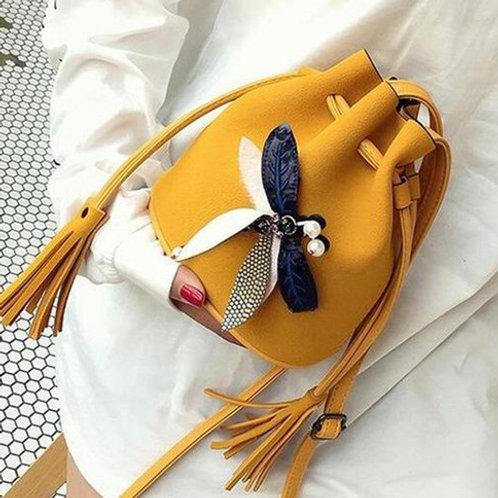 Multi Color Fashion Bohemian Cross - Body Bag, Shoulder Bag, Tassel Fringe Bag
