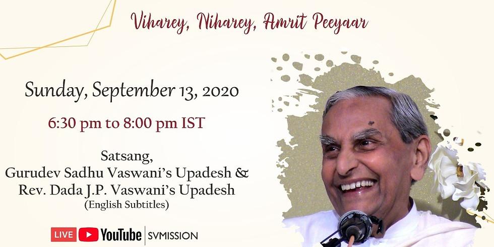 Dada Vaswani's Sacred Monthly Yagna Online Satsang & Upadesh