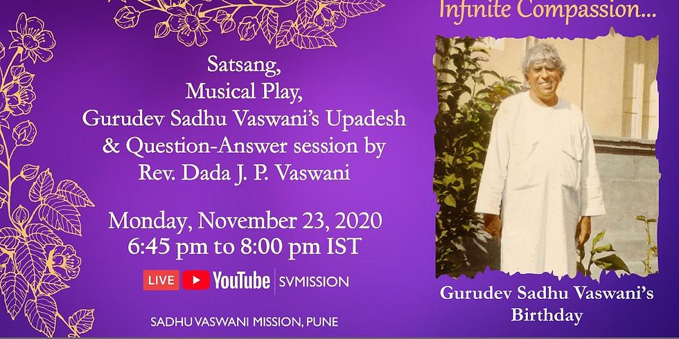 Sadhu Vaswani's birthday celebrations | November 23, 2020