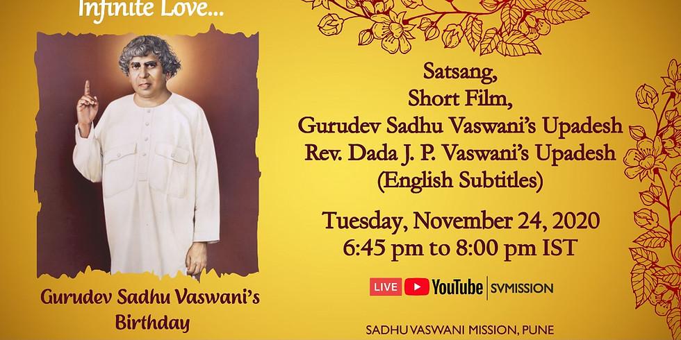 Sadhu Vaswani's birthday celebrations | November 24, 2020
