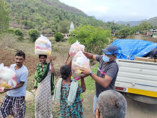 Sadhu Vaswani Mission serves remote tribes in Ambegaon rough terrain