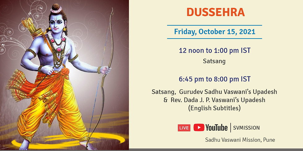 Dusshera   Evening Online Satsang, Gurudev Sadhu Vaswani's & Dada Vaswani's Upadesh in Sindhi with subtitles (1)
