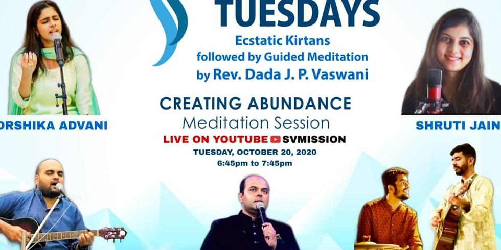 Tranquil Tuesdays   LIVE Kirtan & Meditation on Creating Abundance   20th Oct 2020