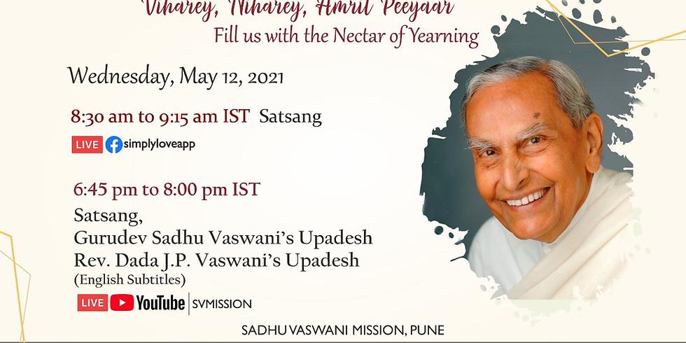 Sacred 12th May 2021 | LIVE Satsang & Dada Vaswani's Upadesh (English subtitles) (1)