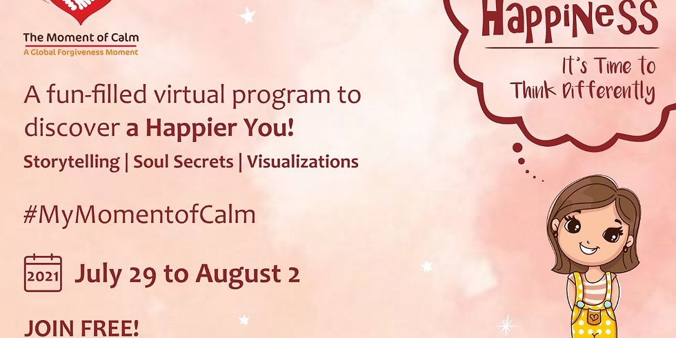 MyMomentOfCalm: Doodle to Happiness   A free 5 days Virtual Self-Care Program   July 29-August 2, 2021