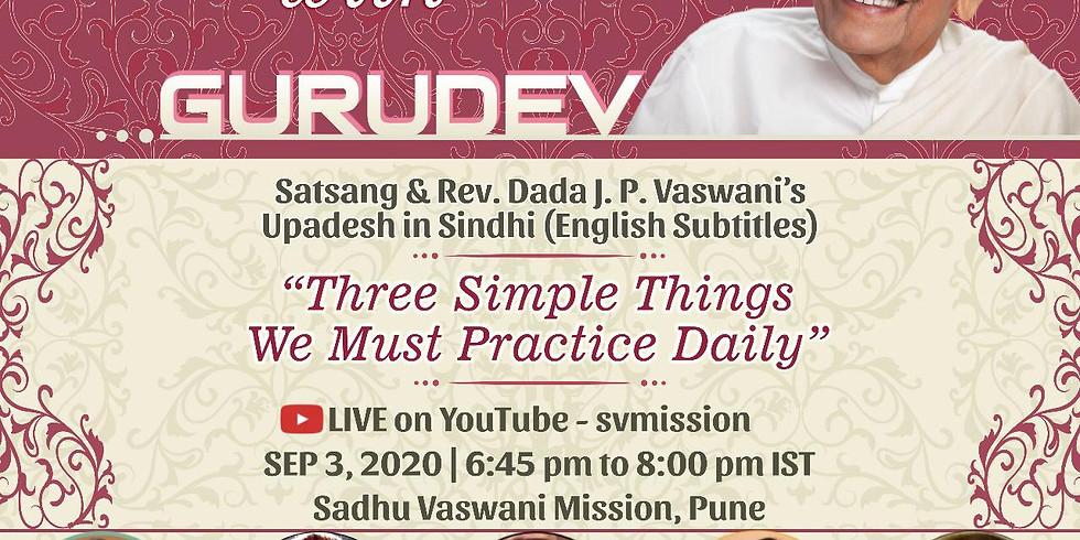 Three Simple Things We Must Practice Daily | Thursday Online Satsang & Dada Vaswani's Upadesh (Subtitles)