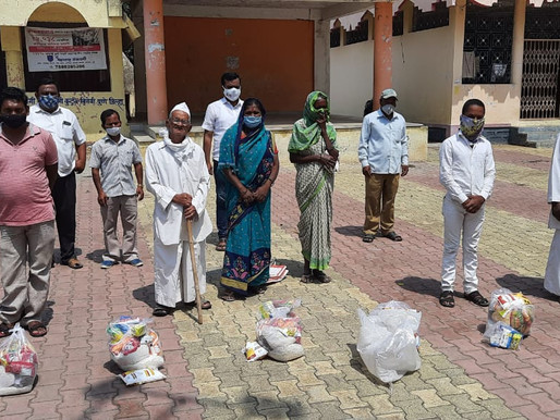 1600 Ration Kits Distributed to Handicapped in Purandar