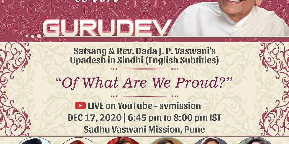 Of What Are We Proud? | LIVE Satsang & Dada Vaswani's Upadesh in Sindhi (subtitles)