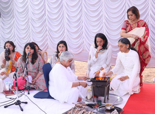 Bhoomi Puja of new school at Bangalore