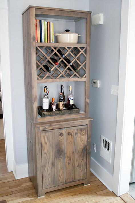 Chestnut Wine Cabinet