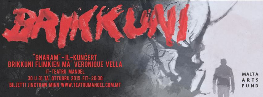 Brikkuni will be playing live at Teatru Manoel on October 30 and 31