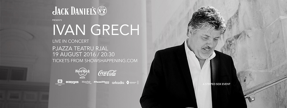 Ivan Grech's debut solo in concert takes place on Friday, August 19