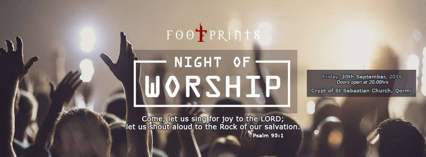 Footprints will be performing Night of Worship on September 30