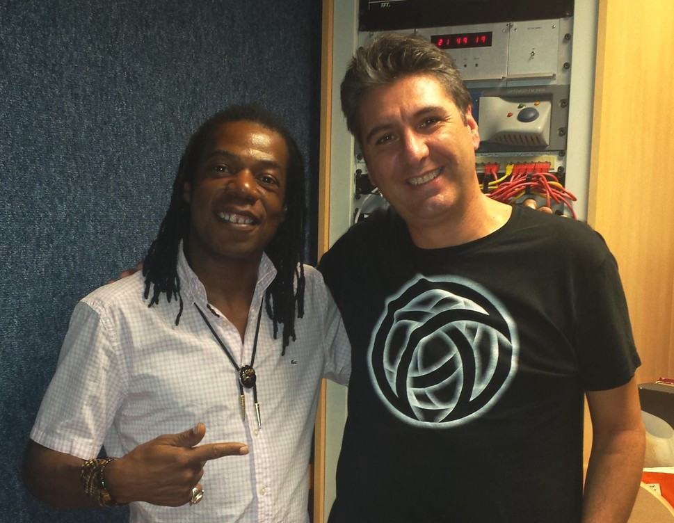With Kelvin Grant at Radio 101