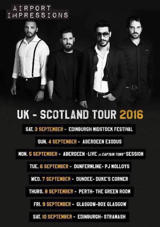Airport Impressions tour dates in Scotland