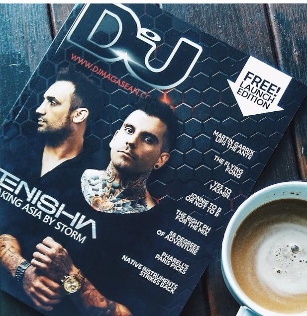 Tenishia on DJ Mag front cover