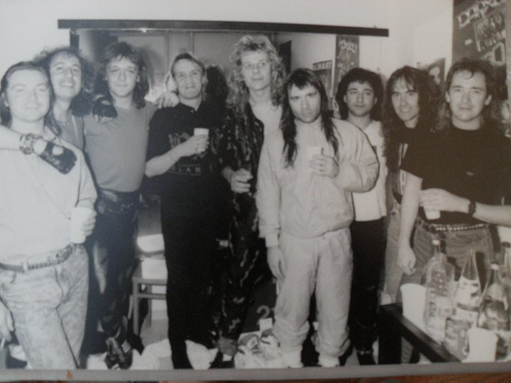 Backstage with Iron Maiden