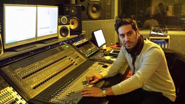 Rikki Lee in the studio