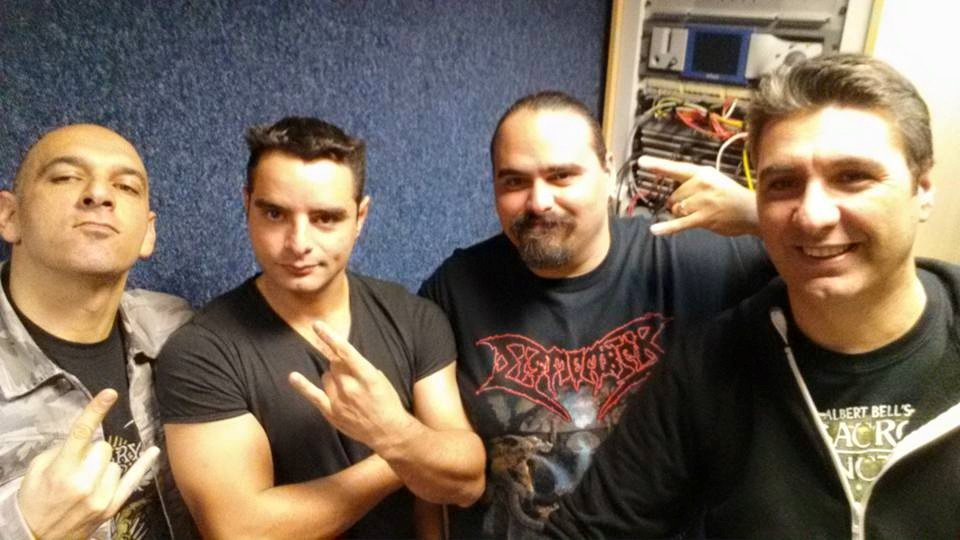 Angelcrypt's Joseph, Campos and Shawn with Mike Bugeja after the interview
