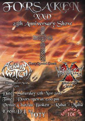 Forsaken are celebrating their 25th Anniversary on November 12