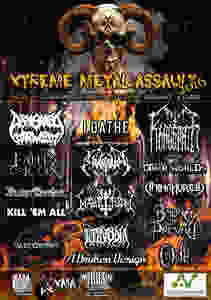 The poster for the 2016 X-Treme Metal Assault festival