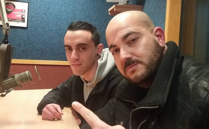 Maltese rappers Lapes and Hooligan during the ROCKNA radio interview