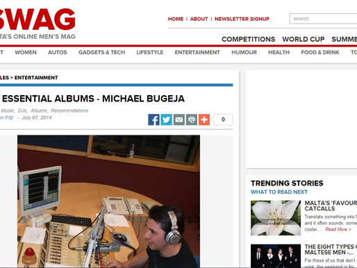 SWAG FEATURE: MY ESSENTIAL ALBUMS BY MICHAEL BUGEJA